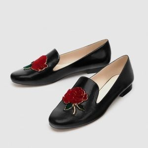 Zara Rose Detail loafers